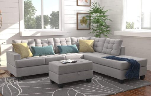 Sectional Sofa with Chaise for Living Room Furniture in Abuja