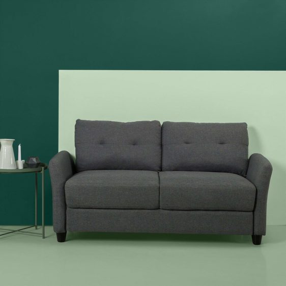 Upholstered 62.2 Inch Sofa Couch Loveseat Abule Egba