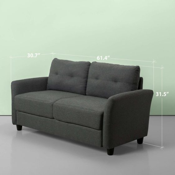 Upholstered 62.2 Inch Sofa Couch Loveseat Abuja