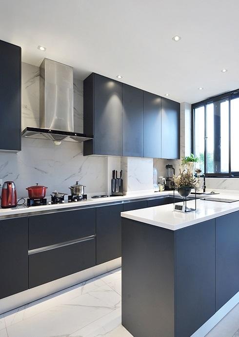 PVC Modern High Gloss Acrylic Designs Kitchen