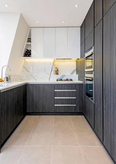 Standard Modern Black Kitchen Cabinet