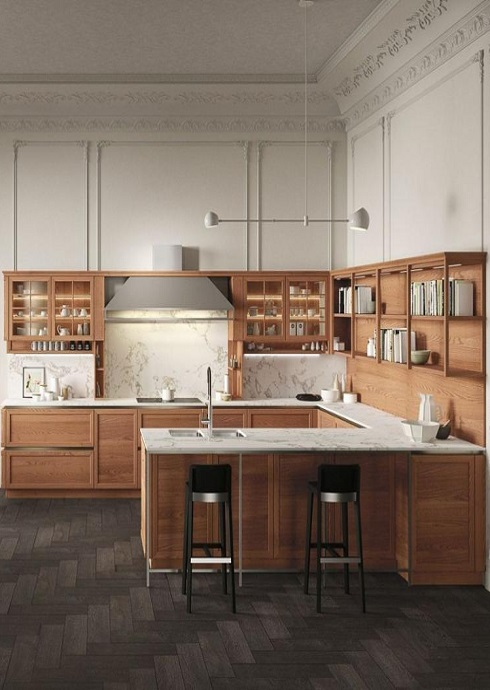 Wood Modern Kitchen Cabinets