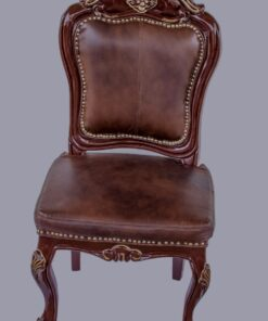 Italian Leather Dinning Set of Chairs